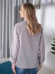 Solid Shirt Collar Casual Long Sleeve Shirts & Tops