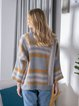 Casual Long Sleeve Knitted Cardigan Outsuit