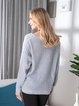 Casual Loose Knitted Round Neck Sweater