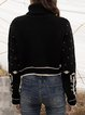 Black Turtleneck Casual Long Sleeve Sweater