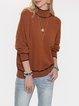 Apricot Casual Cotton-Blend Shift Sweater