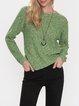 Green Long Sleeve Acrylic Sweater