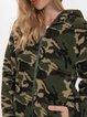 Green Camo Casual Outerwear