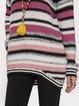 Gray Casual Shift Long Sleeve Sweater