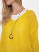 Yellow Shift Long Sleeve Sweater
