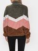 Light Kahaki Casual Long Sleeve Outerwear
