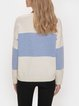 Blue Crew Neck Long Sleeve Sweater