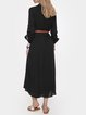 Black Shirt Collar Casual Dresses