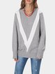 Gray Acrylic Long Sleeve Sweater