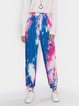 Multicolor Sports Ombre/tie-Dye Printed Pants