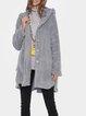 Cozy Long Sleeve Fleece Hooded Fuzzy Asymmetrical Hem Button Teddy Bear Coat