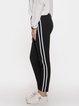 Black Cotton-Blend Sports Pants