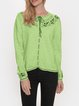 Vintage Embroidery Long Sleeve Cotton-Blend Sweater