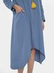 Casual Loose Shirt Dress with Pockets