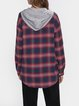 Red Long Sleeve Cotton-Blend Shirts & Tops