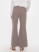 Solid Color Drawstring Micro Trumpet Casual Pants