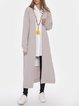 Casual Solid Color Long Cardigan Coat