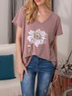 Casual Cotton-Blend Floral Shirts & Tops