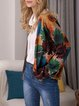 Printed Long Sleeve Leisure Knitted Coats