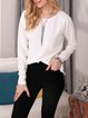 Solid Color Casual Long-sleeved Tops