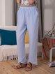 Casual Stripe Straight Elastic Waist Pants