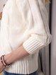 White Plain Long Sleeve Sweater
