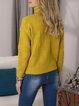 Yellow Long Sleeve Acrylic Sweater