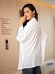 White Cotton-Blend Casual Long Sleeve Outerwear