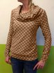 Plus Size Vintage Geometric Printed Long Sleeve Casual Tops