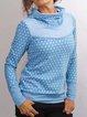 Printed Hoodie Cotton-Blend Casual Sweatshirt