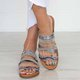 Leopard Print Summer Casual Flat Heel Leather Slippers