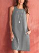 Sleeveless Casual Solid Dresses