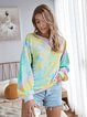Long Sleeve Crew Neck Casual Tie-Dye Sweatshirt