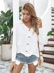 Cotton-Blend Casual Long Sleeve Sweater