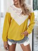 Cotton-Blend Long Sleeve Crew Neck T-Shirts