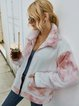 Ombre/tie-Dye Casual Long Sleeve Outerwear