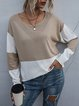 Loose Pullover Round Neck Casual Knitted Sweater