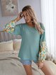Crew Neck Casual Cotton-Blend Sweater