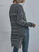 Hollow Crochet Loose Long Sleeve Round Neck Knitted Sweater