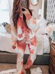 As Picture Two Piece Cotton-Blend Casual Crew Neck Suits
