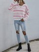 Striped Knitted Long Sleeve Pullover Sweater