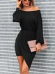 Sexy Strapless Slim Bag Hip Long Sleeve Dress