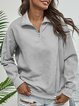 Corduroy Casual Loose Stand Collar Long Sleeve Cover Sweater