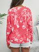 Tie Dyed Print Loose Round Neck Pullover Sweater