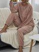 Autumn Winter Warm Plush Fashion Suit Home Wear
