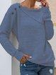 Gray Solid Shawl Collar Casual Shirts & Tops