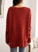 Coffee Cotton-Blend Sweater