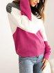 Pink V Neck Long Sleeve Sweater