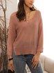 Apricot Cotton-Blend Sweater