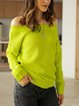 Yellow Casual Off Shoulder Long Sleeve Sweater